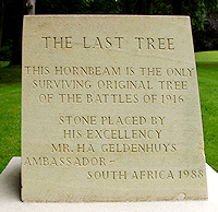 Plaque at Delville Wood