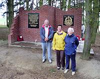 Derek Glover, wife Betty and daughter Anne at Serre