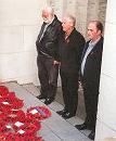 Councillors Sharratt, Williams and Cranshaw at the Menin Gate
