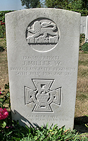 The grave of James Miller VC at Dartmoor Cemetery