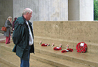 Steve Williams visiting the Somme and Ypres in 2004