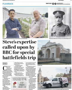 Chorley Guardian article about Steve's recent trip to Belgium [click to read]