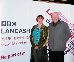 Steve with BBC Radio Lancashire's Sally Naden