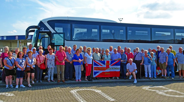 Tour group in Zeebrugge in 2016
